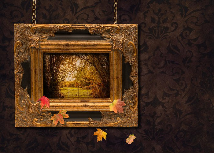 Autumn Greeting Card featuring the photograph Autumn Frame by Amanda And Christopher Elwell