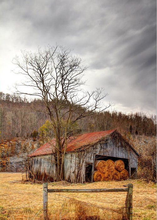 Barn Greeting Card featuring the photograph Awaiting Spring by David Jones