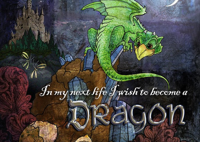 Dragon Greeting Card featuring the digital art Baby Dragon by Evie Cook