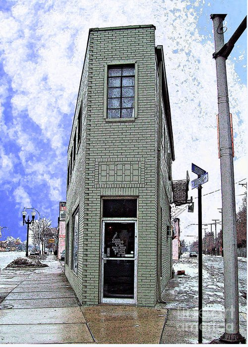 Mj Olsen Greeting Card featuring the photograph Baby Flatiron In River Rouge by MJ Olsen