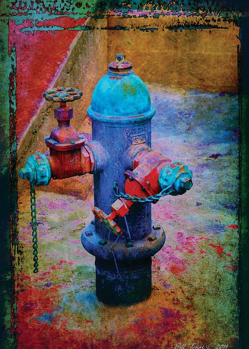 Industrial Greeting Card featuring the photograph Backstreets Vi by Bill Jonas