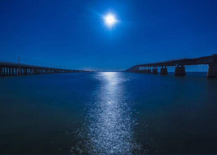 Bahia Honda Key Greeting Card featuring the photograph Bahia Moonrise by Dan Vidal