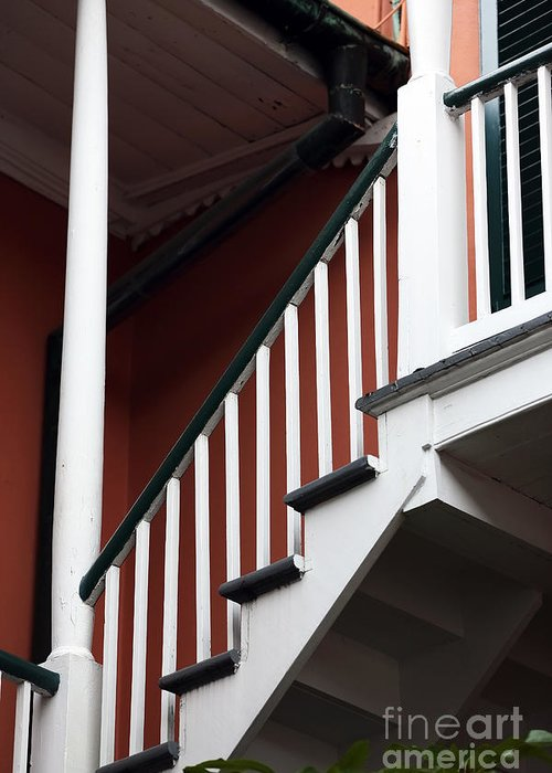 Balcony Stairs Greeting Card featuring the photograph Balcony Stairs by John Rizzuto