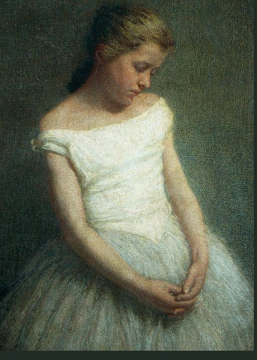 Painting; 19th Century Painting; 20th Century; Europe; Italy; Morbelli Angelo; Dancer (female); Glance; Post-impressionism Greeting Card featuring the painting Ballerina Female Dancer by Angelo Morbelli