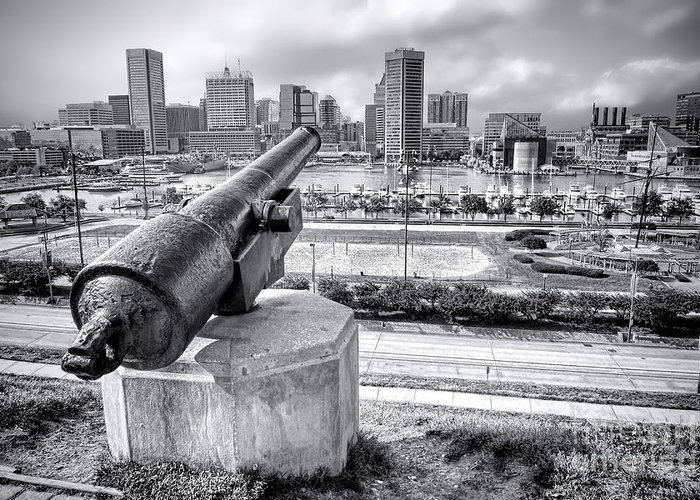 Baltimore Greeting Card featuring the photograph Baltimore Inner Harbor Skyline by Olivier Le Queinec