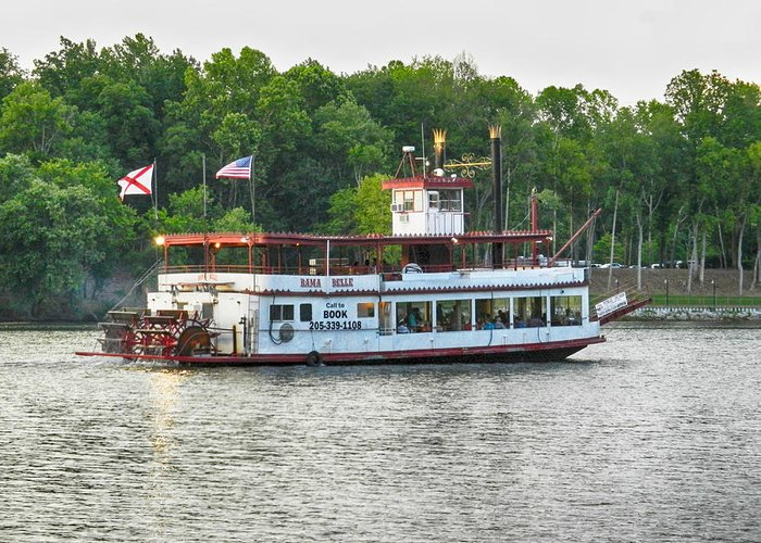 Bama Belle Greeting Card featuring the photograph Bama Belle On The Black Warrior River by Ben Shields