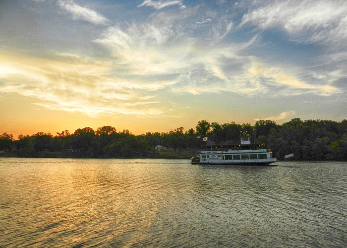 Bama Belle Greeting Card featuring the photograph Bama Belle Sunset by Ben Shields