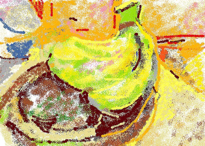 Bananas Greeting Card featuring the painting Bananas From Paphos 2 by Anita Dale Livaditis