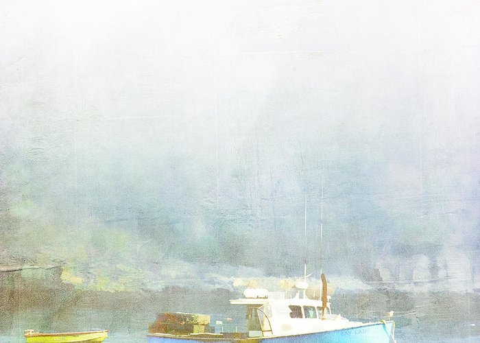 Bar Harbor Greeting Card featuring the photograph Bar Harbor Maine Foggy Morning by Carol Leigh