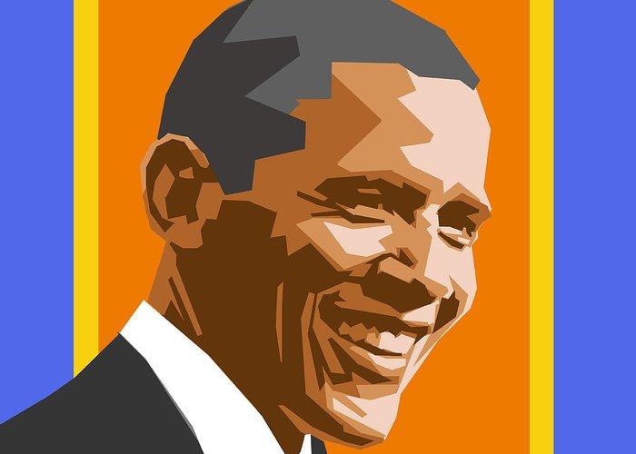 Barack Greeting Card featuring the digital art Barack by Douglas Simonson