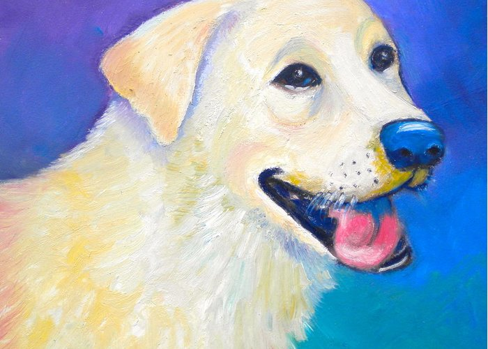 Barkley Greeting Card featuring the painting Barkley by Debi Starr