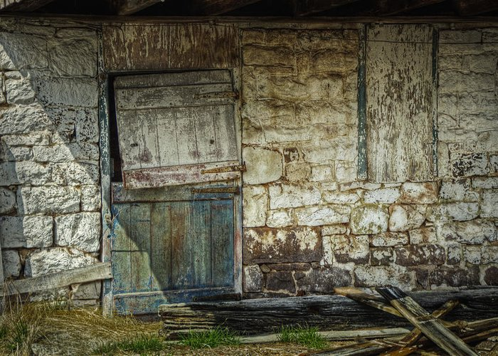 Barn Greeting Card featuring the photograph Barn Door by Joan Carroll