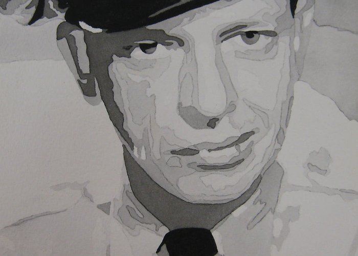 Andy Griffith Show Greeting Card featuring the painting Barney Fife Contrast by Jules Wagner