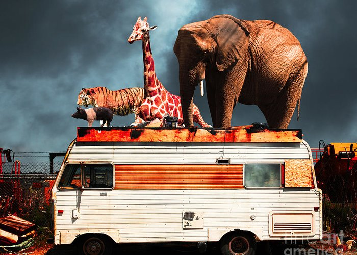 Transportation Greeting Card featuring the photograph Barnum And Bailey Goes On A Road Trip 5d22705 by Wingsdomain Art and Photography