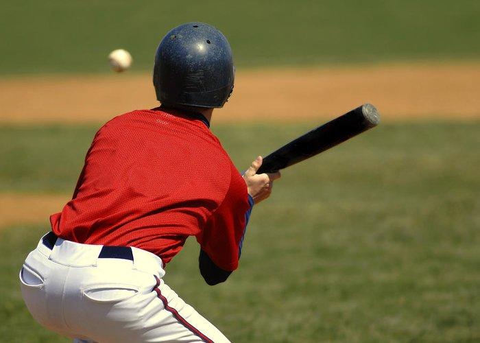 Helmet Greeting Card featuring the photograph Baseball Batter by Lane Erickson