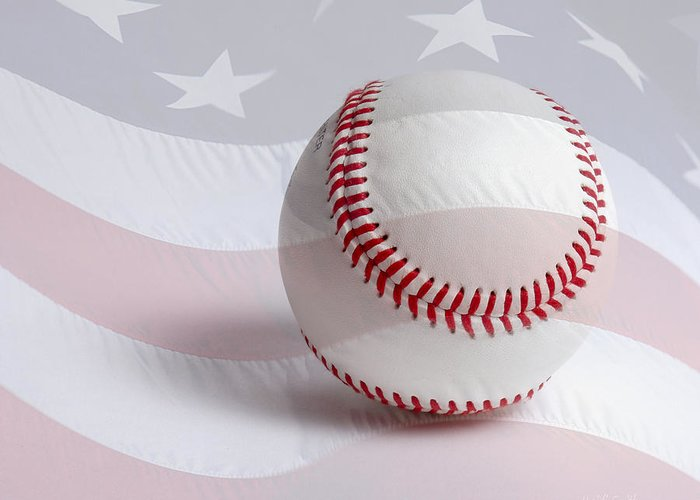 America Greeting Card featuring the photograph Baseball by Heidi Smith