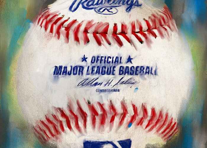 Baseball Greeting Card featuring the digital art Baseball Iv by Lourry Legarde