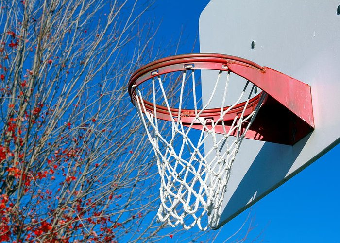 Net Greeting Card featuring the photograph Basketball Net by Valentino Visentini