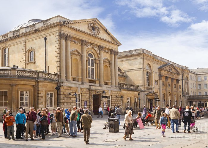 Architecture Greeting Card featuring the photograph Bath Somerset by Colin and Linda McKie