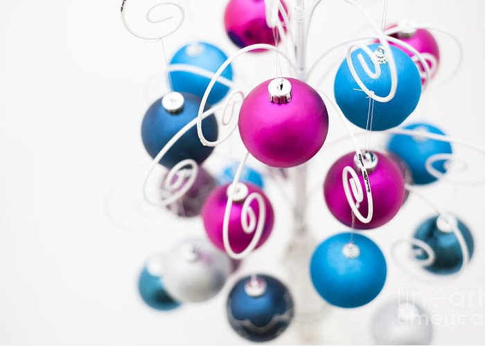 Alternative Greeting Card featuring the photograph Baubles From Above by Anne Gilbert