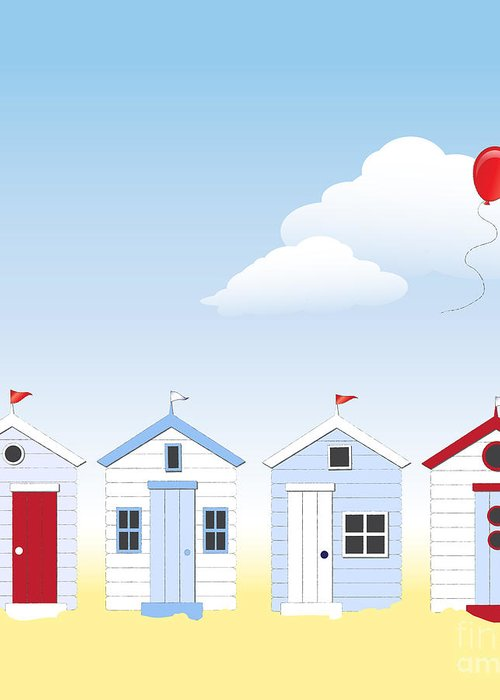 Angle Greeting Card featuring the photograph Beach Huts by Jane Rix