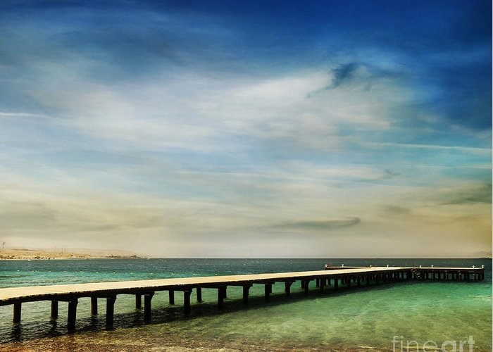 Beach Greeting Card featuring the photograph Beach by Jelena Jovanovic