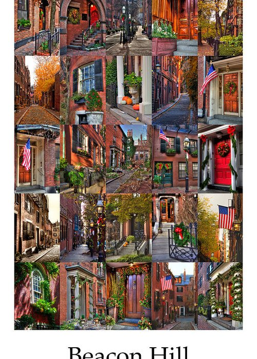 Boston Greeting Card featuring the photograph Beacon Hill - Poster by Joann Vitali