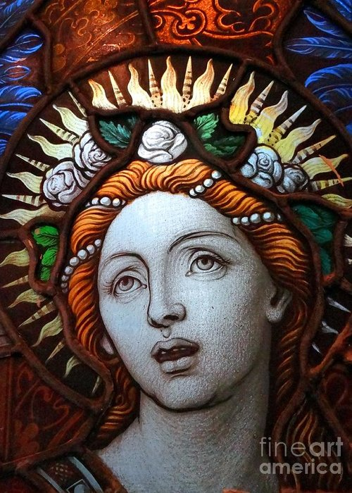 Stained Glass Greeting Card featuring the photograph Beauty In Glass by Ed Weidman
