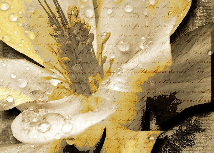 Greeting Card featuring the mixed media Beauty Iv by Yanni Theodorou