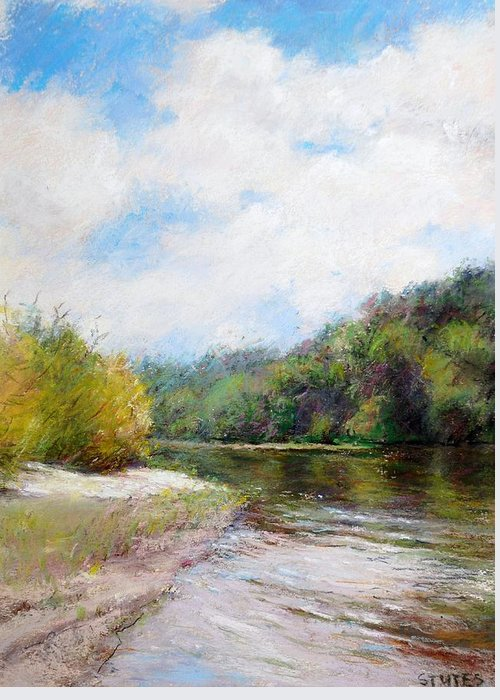Rivers Greeting Card featuring the painting Beauty Of Nature by Nancy Stutes