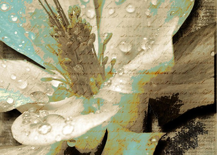 Greeting Card featuring the mixed media Beauty V by Yanni Theodorou
