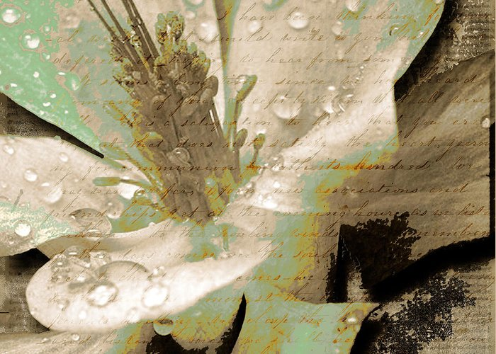 Greeting Card featuring the mixed media Beauty Vi by Yanni Theodorou