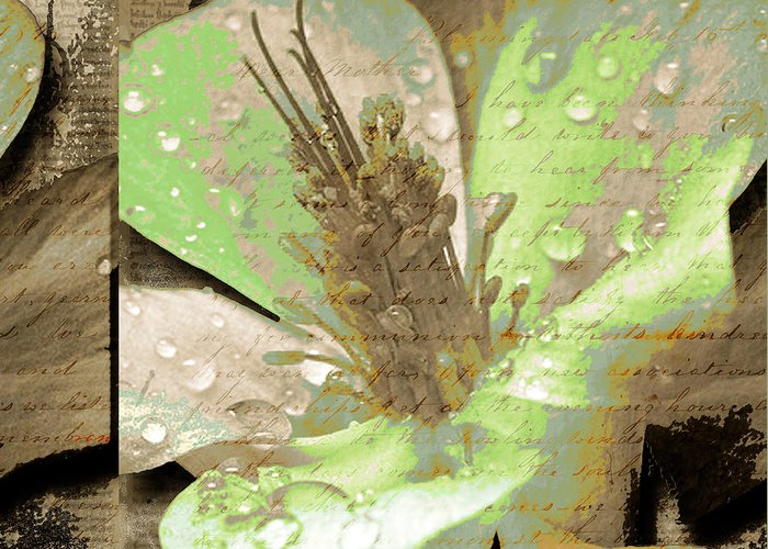 Greeting Card featuring the mixed media Beauty X by Yanni Theodorou