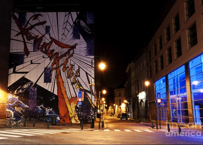 Art Greeting Card featuring the photograph Belgium Street Art by Juli Scalzi