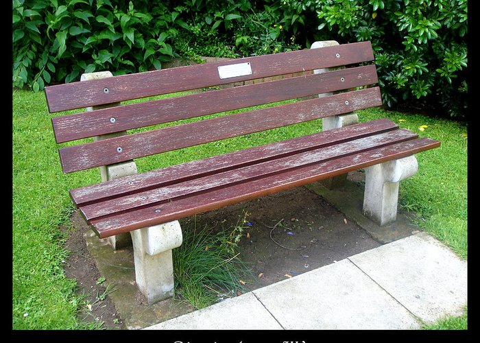 Bench Greeting Card featuring the photograph Bench 13 by Roberto Alamino