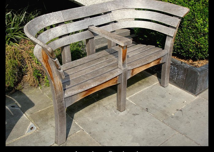 1000benches Greeting Card featuring the photograph Bench 14 by Roberto Alamino