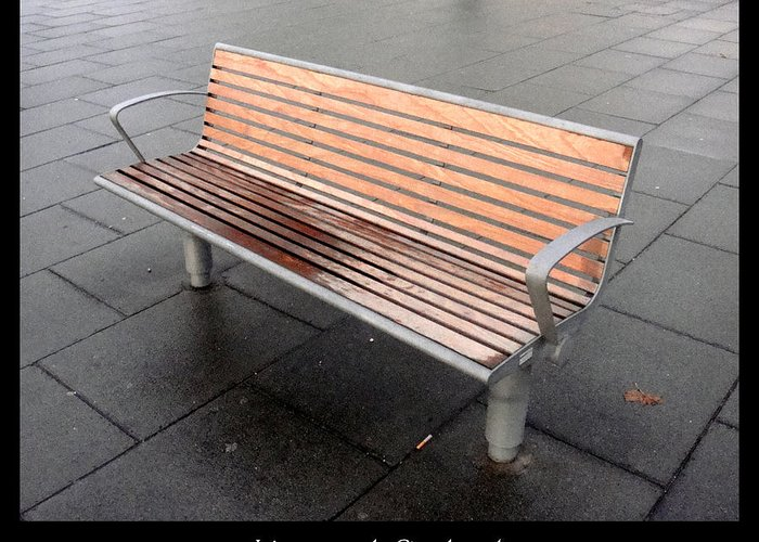 Bench Greeting Card featuring the photograph Bench #23 by Roberto Alamino