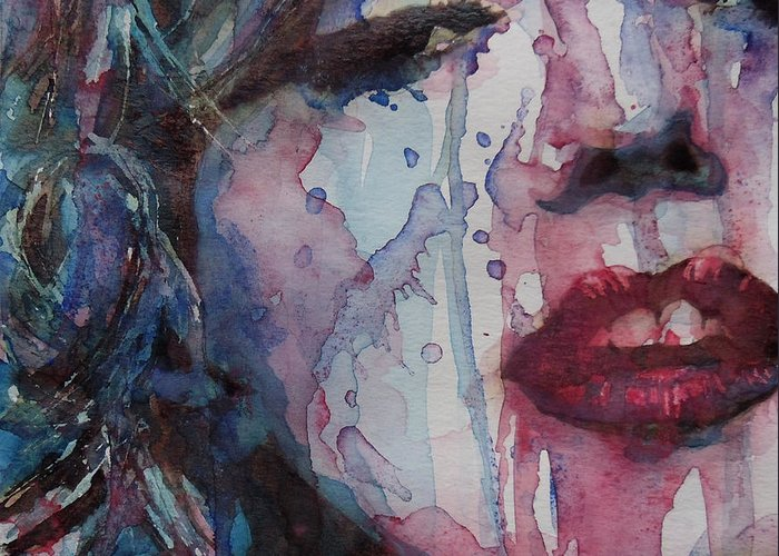 Marilyn Monroe Greeting Card featuring the painting Beneath Your Beautiful by Paul Lovering