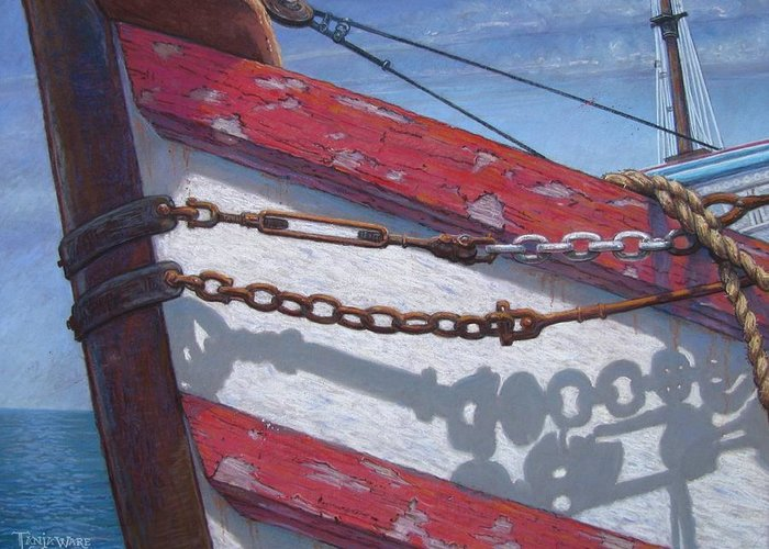 Marine Greeting Card featuring the painting Better Days by Tanja Ware