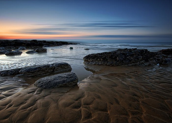 Canvas Greeting Card featuring the photograph Bexhill Sunrise by Mark Leader