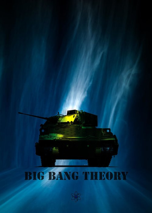 Big Bang Greeting Card featuring the digital art Big Bang Theory by Bob Orsillo