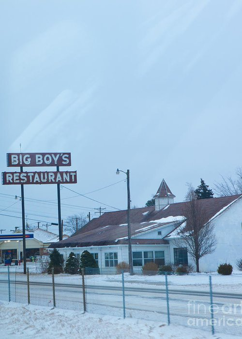 Big Boy's Restaurant Greeting Card featuring the photograph Big Boy's by Kay Pickens