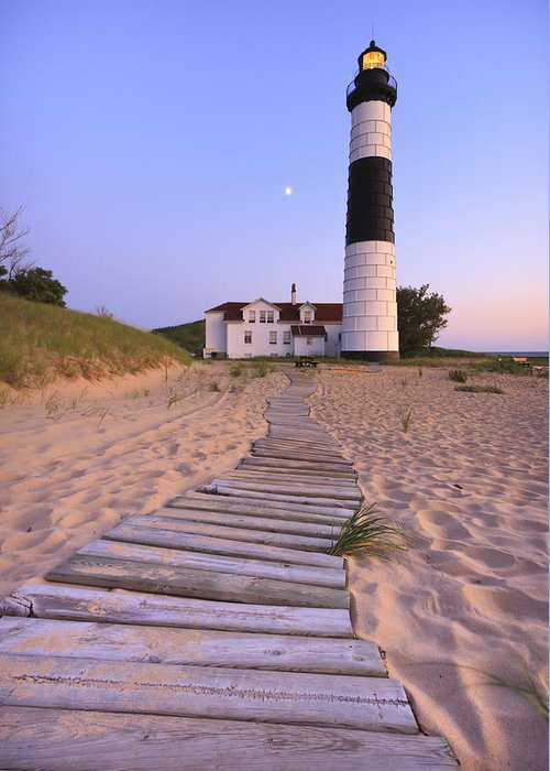 3scape Photos Greeting Card featuring the photograph Big Sable Point Lighthouse by Adam Romanowicz