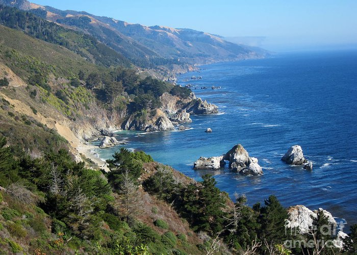 Big Sur Greeting Card featuring the photograph Big Sur Coast Ca by Debra Thompson