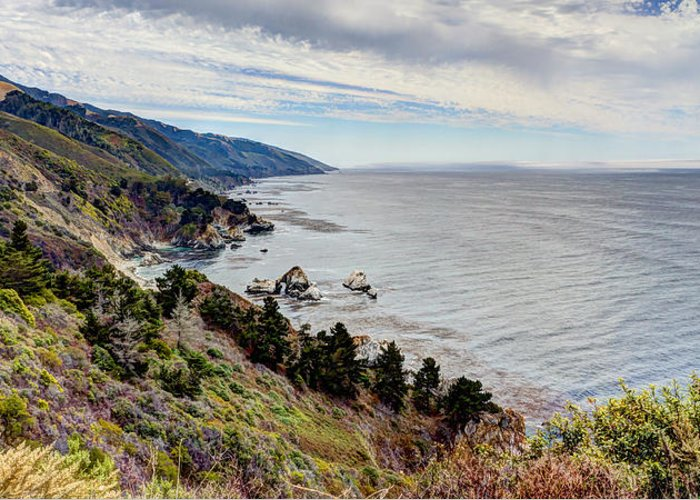Beach Greeting Card featuring the photograph Big Sur Serenity by Heidi Smith