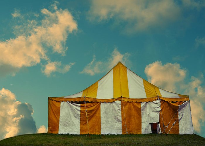 Laura Fasulo Greeting Card featuring the photograph Big Top by Laura Fasulo
