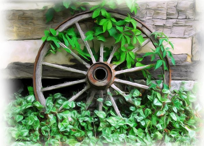 Rabbit Hash Greeting Card featuring the photograph Big Wheel by Mel Steinhauer