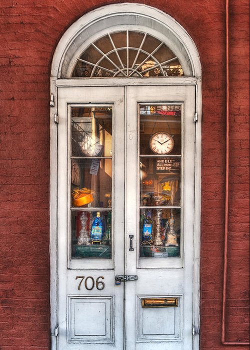 Door Greeting Card featuring the photograph Bless All Those Who Step Inside by Brenda Bryant