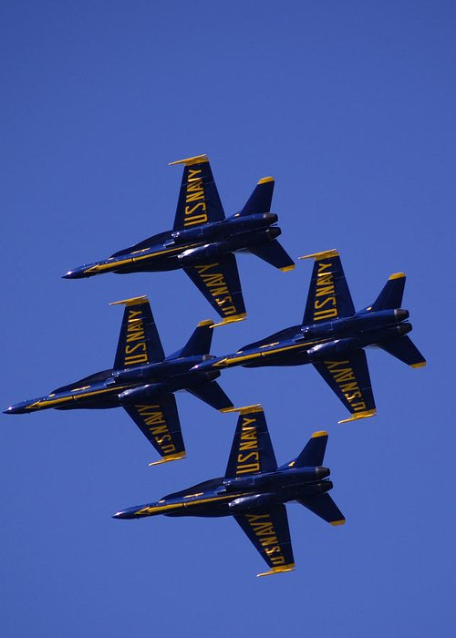 Airshows Greeting Card featuring the photograph Blue Angels by Bill Gallagher