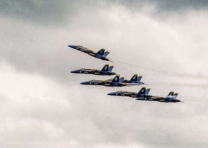 Bethpage Greeting Card featuring the photograph Blue Angels by Eduard Moldoveanu
